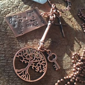 Enjoy the journey copper necklace