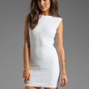 Bardot Dresses & Skirts - Bardot White Sequin Disco Dress
