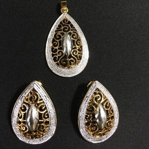 Beautiful fashion earrings and pendant