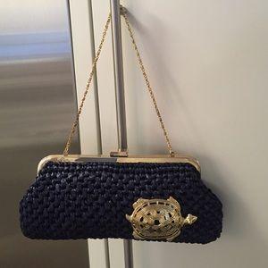 FINAL PRICE‼️NWOT Lilly Pulitzer navy straw bag