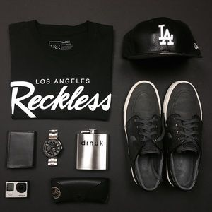 Young & Reckless Shirts - Young & Reckless Men's Large Los Angeles Tee