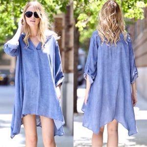 Dresses & Skirts - ❣️LAST❣️ Blue Asymmetrical Swing Tunic Dress