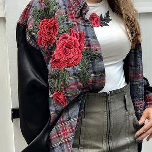 LF Tops - LF Vintage Rose Flannel