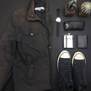 Kenneth Cole Black and Brown Rugged Jacket
