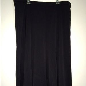 CHRISTOPHER & BANKS Black Skirt Sz 12