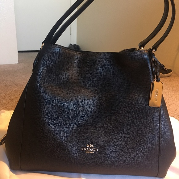 Coach Handbags - Coach Edie Shoulder Bag 31 in black ed54c4d94ea33