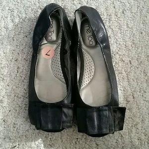 Me Too Black Flats