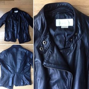 Michael Kors Jackets & Blazers - Michael Kors Asymmetrical Leather Moto Jacket