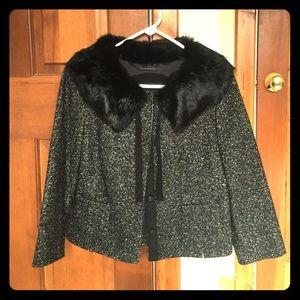 Elie Tahari short wool jacket.