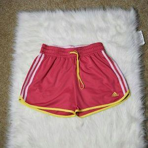 Adidas Pants - Adidas Pink & Yellow Running Short
