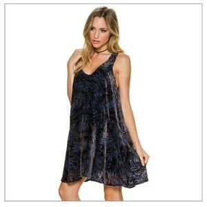 Free People Ellie Shift Mini Velvet Dress