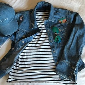 ‼️Denim Jacket with Patches‼️ 🌵
