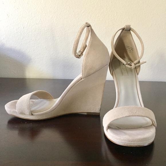 fbefe0942ab Aldo Shoes - Aldo Nude Suede Wedge Sandals