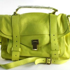 Proenza Schouler PS1 Yellow Leather Satchel