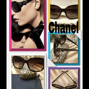 227d0c08fa98a CHANEL Accessories - Chanel 5280 Havana Brown Bow Tie Sunglasses  6441