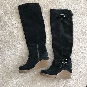 Ash Shoes - Ash Real Suede Leather Overknee Boots Size 38