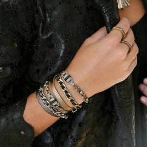 Jewelry - Leather & chain wrap