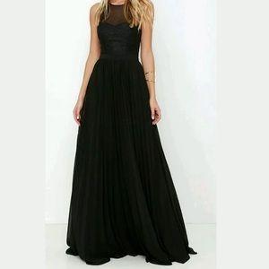 Lulus I'm flattered black maxi dress XSmall