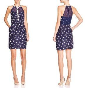 Greylin Dresses & Skirts - Greylin Halter Bird Dot Dress Navy White Mini