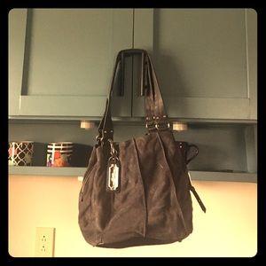 Tignanello Handbags - Tignanello suede and leather hobo