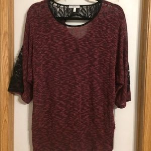 Halo Tops - Halo Sweater with lace shoulder