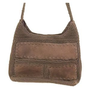 Handbags - Brown suede crochet cross body bag