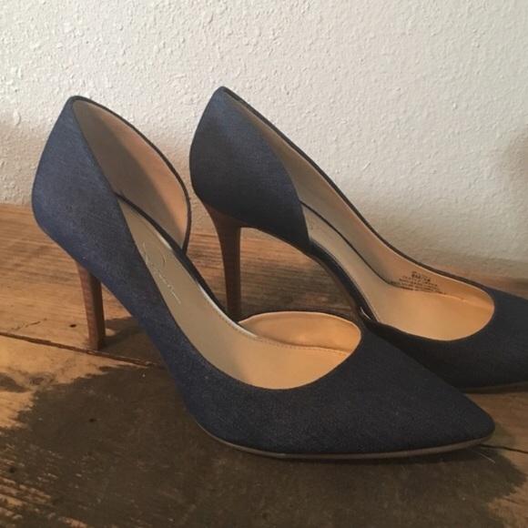 fcf0c815576 Jessica Simpson Shoes - Jessica Simpson Denim Heels