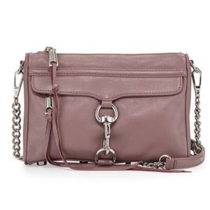 Rebecca Minkoff Handbags - REBECCA MINKOFF MAUVE MINI MAC CROSS BODY BAG