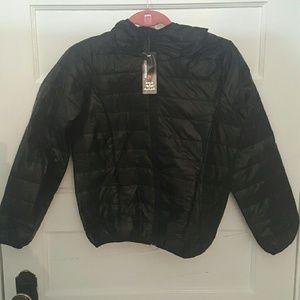 *NWT* Black Hooded Bubble Jacket Sz S