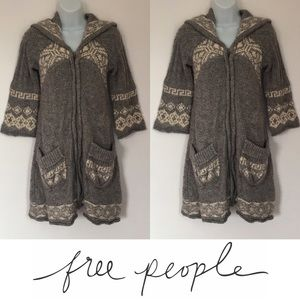 Free People Sweaters -   Free People   Fair Aisle Knit Hooded Sweater