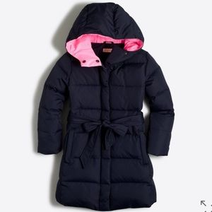 J. Crew Factory Other - 🆕 J.Crew Crewcuts Girls Long Belted Puffer