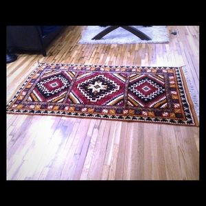 Other - HANDMADE!! Bourbon wool/cotton rug from Morocco!!