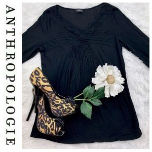 Anthropologie Tops - 💕SALE💕 Anthropologie Black Gathered Top