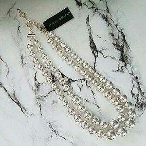 Willi Smith Jewelry - New Willi Smith Silver Pearl Costume Necklace