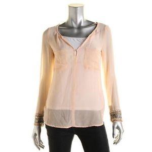 Zara Tops - Zara beaded chiffon blouse