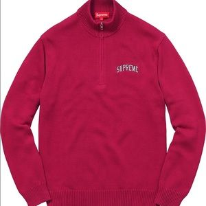 Supreme Half Zip Mock Sweater