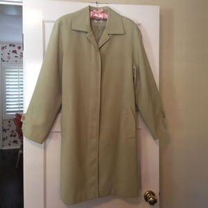 Gallery Jackets & Blazers - Subtle leaf-green, A-line topcoat.