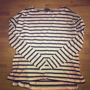 J Crew Striped Boat Neck Long Sleeve Worn Once S