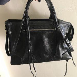 Rebecca minkoff Reagan satchel! Black leather!
