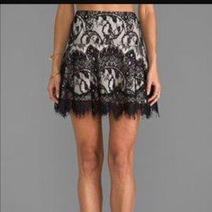 BB Dakota lace flare skirt