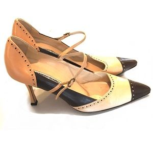Manolo Blahnik Two Tone pointed heals