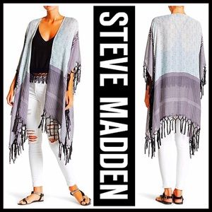 Steve Madden Sweaters - ❗1-HOUR SALE❗STEVE MADDEN LONG RUANNA Cape SHAWL