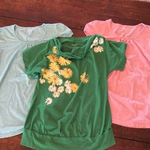 Bundle of 3 short sleeve Maternity shirts