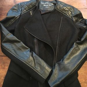 Blank NYC Jackets & Blazers - Faux Leather and Wool jacket