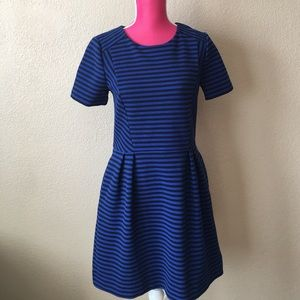 Madewell Dresses & Skirts - Madewell Stripe blue and Black fit-and-flare Dress