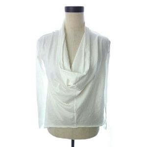 Alternative Tops - White Cowl Drape Layer  Shirt