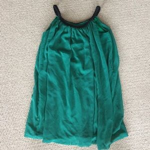 Dresses & Skirts - Emerald green shirt/dress with braided straps