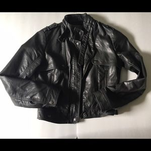 Zara- Faux Leather Moto Jacket