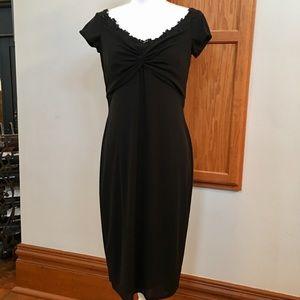 David Meister Dresses & Skirts - David Meister Vintage Beaded Knotted Dress NWOT