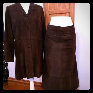 Margaret O'Leary Jackets & Blazers - Margaret O'Leary Suede Jacket And Skirt NWOT